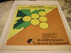 ANCIENNE AFFICHE PUBLICITE LE RAISIN ITALIA  1977 - Posters