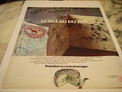 ANCIENNE AFFICHE PUBLICITE LE SCEAU DU ROI  FROMAGE SOCIETE ROQUEFORT 1977 - Affiches