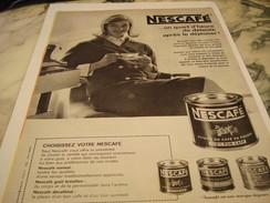 ANCIENNE AFFICHE PUBLICITE PLAISIR CAFE DE NESCAFE  1960 - Affiches