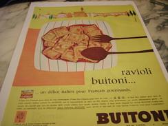 ANCIENNE AFFICHE PUBLICITE RAVIOLI DE BUITONI  1960 - Posters