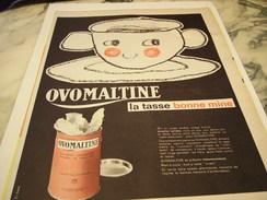 ANCIENNE AFFICHE PUBLICITE TASSE BONNE MINE OVOMALTINE 1960 - Posters