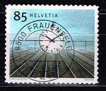 Schweiz 2003, Michel# 1862 O Station Clock (1944) Designed By Hans Hilfiker (1901-93) - Switzerland