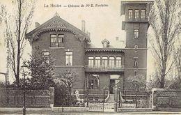 CPA La Hestre Château De M. E. Fontaine (dos Non Divisé) Cachet Haine-St-Pierre 1 Janvier 1906 Vers Jolimont - Thuin