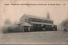 ! Cpa Rouen Champ De Mars, Eglise, 1918 - Rouen