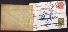 MARCOPHILIE ENVELOPPE DE REEXPEDITION AVEC BULLETIN CAUX TERRITET 1902 Taxe 20 Oblitérations Multiples Vers Gard - Poststempel
