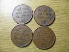 PALESTINE 4 COINS 2 MILS 1927 1941 1942 1942  DEL 2017/1 NUM 7 - Otros – Asia