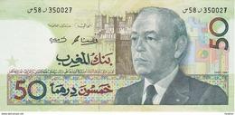 BILLETE DE MARRUECOS DE 50 DIRHAMS DEL  AÑO 1987 EN CALIDAD EBC (XF) (BANKNOTE) - Marruecos