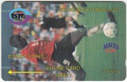 TRINIDAD & TOBAGO A-047 Magnetic TSTT - Sport, Soccer - 8CCTB - Used - Trinidad & Tobago