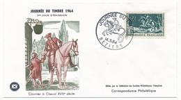 FRANCE - FDC Journée Du Timbre 1964 BEZIERS - Timbre Courrier à Cheval - FDC