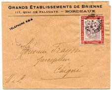 BORDEAUX ST JEAN  Bande Imprimé Du 10/12/1906 Avec Porte Timbre Blanc 2C  Grands Etablissements De Brienne - Marcophilie (Lettres)