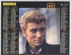 Almanach Du Facteur De 2002 :Johnny HALLYDAY & Sylvie VARTAN - Calendars