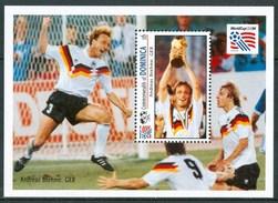 """1993 Dominica """"Etats Unis"""" Coppa Del Mondo World Cup Calcio Football Block MNH** Zz33 - World Cup"""