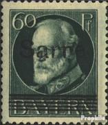 Saarland 26a Mit Falz 1920 König Ludwig - 1920-35 League Of Nations