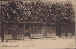 CPA Herblay Seine Et Oise Café De La Gare Vue Homme Hotel Pension Maison Rollet YT 194 CAD Ambulant Mantes à Paris - Herblay