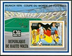 """1974 Alto Volta """"Munich 74"""" Coppa Del Mondo World Cup Calcio Football  MNH** Zz33 - 1974 – Westdeutschland"""