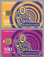 PT.- 2 X Telecom Card PT. Portugal. O Verao Louco Dos Telecom Card PT.  6 Scans - Portugal