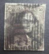 BELGIE  1849   Nr. 1    P 114  Termonde   Nipa  500     Gerand  CW  90,00 - 1849 Epaulettes