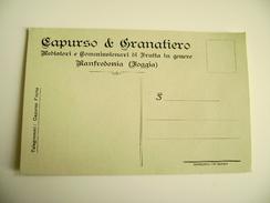 CAPURSO &  GRANATIERO  MANFREDONIA FOGGIA   MEDIATORI  FRUTTA     COMMERCIO   NON VIAGGIATA    FORMATO PICCOLO - Mercanti