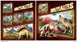 SIERRA LEONE 2017 - Dinosaurs. M/S + S/S Official Issue. - Prehistorisch