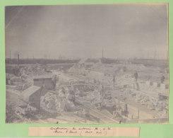 LA PLAINE SAINT DENIS : Construction Souterrain M, Août 1909. Quadruplement Ligne Paris.Photo Originale - Trains