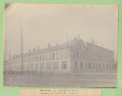Gare Paris La Chapelle : Dépot Bureaux Du Matériel Et Traction, 1909. Quadruplement Ligne Paris. Photo Originale - Trains