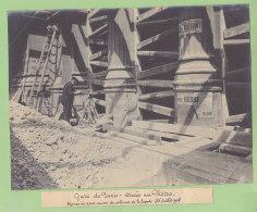 Gare Paris Nord : Construction Accès Au Métro , Juillet 1908. Quadruplement Ligne Paris. Photo Originale - Trains