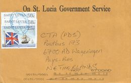 St Lucia 2004 Conway Castries Royal Navy 64 Gun Ship 25c 50c Official Cover - St.Lucia (1979-...)