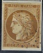 France N° 1 Oblitéré PC 1711 Lhommaizé, Beau - 1849-1850 Ceres