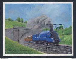 "Bhutan 1988 B159 = Mi 1070 ** Steam Locomotive ""Mallard"" - World Speed Record Holder Steam Traction - Bhutan"