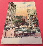 CARTE POSTALE ETATS UNIS : NEW YORK, BOWLING GREEN ,  ETAT VOIR PHOTO   . POUR TOUT RENSEIGNEMENT ME CONTACTER. REGARDEZ - Places