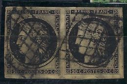 France N° 3 Oblitéré En Paire - 1849-1850 Cérès