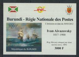 L59. Burundi - MNH - Art - Ivan Aivazovsky - 2012 - Deluxe - Imperf - Arts