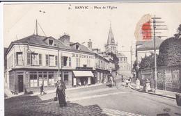 Cpa -76-sanvic--animée-place De L'eglise-E.L.D.  N°9 - Other Municipalities