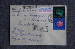 Lettre Recommandée De MOSCOU à PARIS - 1923-1991 USSR