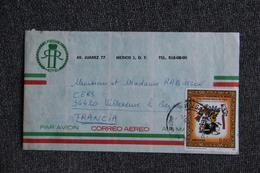 Lettre Du MEXIQUE Vers FRANCE - Mexique