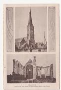 Klerken: Kirche Vor Und Nach Der Zerstörung. (Erster Weltkrieg, 1916) - Houthulst