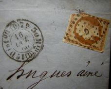 1860 Paris D, Cachet Première Distribution 7h30 Min, à Voir ! - Marcophilie (Lettres)