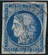 France N° 4 Oblitéré Mazamet Sur Type 14 Très Rare, Signé Calves Et Jacquart TB - 1849-1850 Ceres
