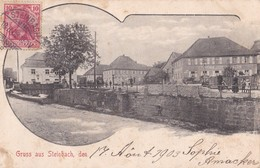 Carte 1903 GRUSS AUS STEINBACH (rue,commerce) - France
