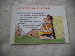 BELLE ILLUSTRATION HUMORISTIQUE ..LA PRIERE DU CAMPEUR - Humor