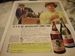 ANCIENNE AFFICHE PUBLICITE LES VIN HENRI MAIRE  1960 - Alcools