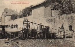 87 LIMOGES N°3 Grèves De Limoges 15 Avril 1905 Barricade Ancienne Route D'Aixe - Limoges