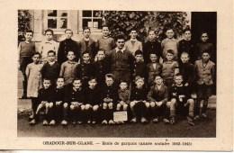 87 ORADOUR-sur-GLANE  Ecole De Garçons (année Scolaire 1942-1943) - Oradour Sur Glane