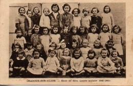 87 ORADOUR-sur-GLANE  Ecole Des Filles (année Scolaire 1942-1943) - Oradour Sur Glane