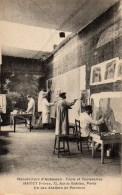 23 AUBUSSON Tapis Et Tapisseries R & L HAMOT Un Des Ateliers De Peinture (2) - Aubusson