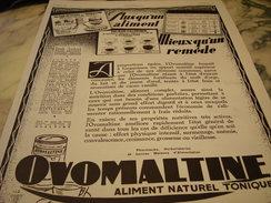 ANCIENNE AFFICHE  PUBLICITE MIEUX QU UN REMEDE OVOMALTINE 1928 - Affiches