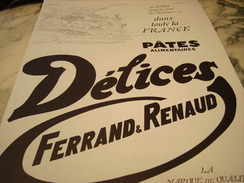 ANCIENNE AFFICHE PUBLICITE PATE ALIMENTAIRE PARIS  DELICE 1928 - Posters