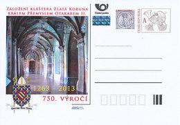 Tschech. Rep. / Ganzsachen (Pre2013/11) Die Gründung Des Klosters Goldenkron Vom König Ottokar II. Premysl (1263) - Klöster