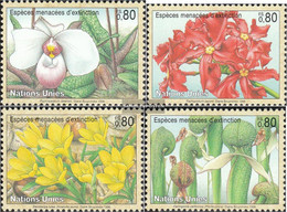UN - Geneva 288-291 (complete Issue) Unmounted Mint / Never Hinged 1996 Affected Plants - Geneva - United Nations Office
