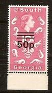 Falklands Dépendances South Georgia 1978 Yvertn° 72A *** MNH Surchargé Haute Valeur Cote 100 FF - Géorgie Du Sud